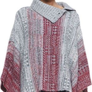 Free People wool poncho